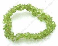 """оптовая продажа 100% натуральный бесплатная доставка 15 """" зеленый полудрагоценных камней ожерелье браслет серьги"""