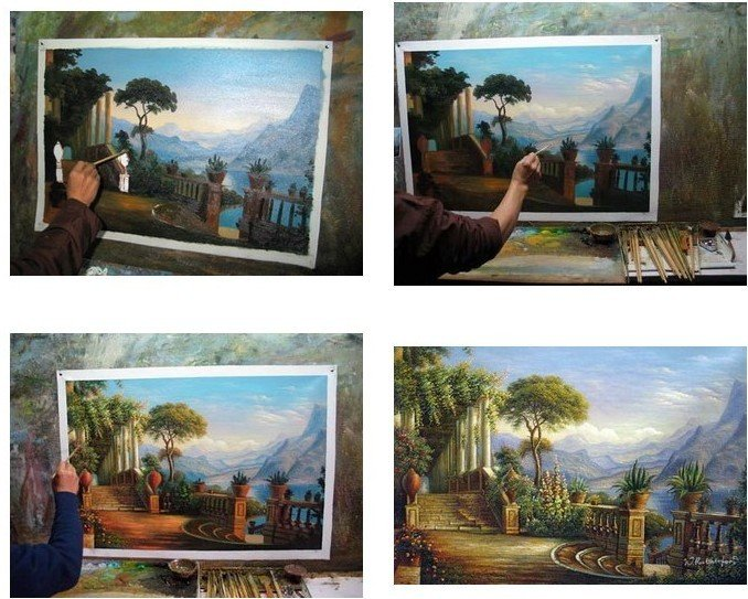 MODERN ABSTACT OIL PAINTING 100%PAINTED BY HAND flower free shipping
