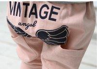 новинка ангелов крылья стиль девушки свободного покроя брюки девушки хлопка брюки 10 шт./лот