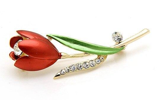1648e30a3 OneckOha Rhinestone Tulip Brooch Pin Enameled Pin Flower Brooch – BAZZZOR  MALAYSIA