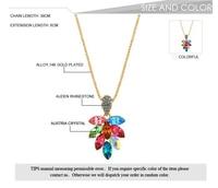 модный цветочный сделано с элементов кристаллическое Сваровски старинные цветок ожерелье для женщин женский многоцветный мода ювелирные изделия