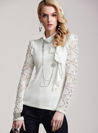 Free Shipping Women's Romantic Elegant Long Sleeve T shirts Ladies ...