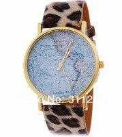 jw094 скучно нам серии наручные часы уникальный новый карта мира южная америка и север часть платье с рисунком часы прошел часы