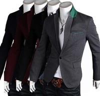 высокое качество классические мужские свободного покроя костюм один - кнопки бизнес западного стиля одежды