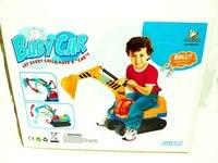 ЭМС бесплатная доставка детские игрушки землечерпалки, пластиковые ребенка на автомобиль игрушки автомобиля подарок, детские детская игрушка хобби модель, желтый / синий