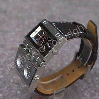 новых людей tthree часовой пояс аналоговые наручные часы коричневый кожаный ремешок a238