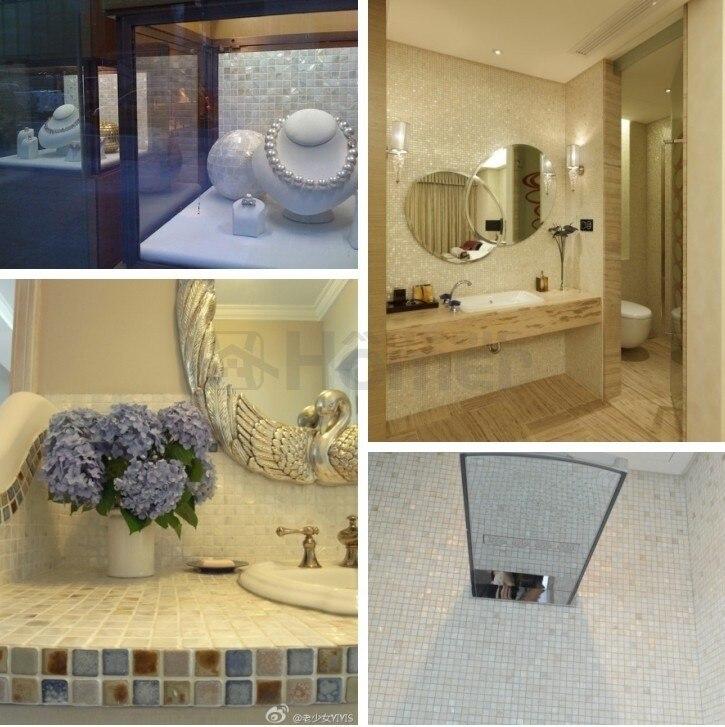 Pure White Shell Mosaic Tiles Pearl Mosaic For Kitchen Backsplash