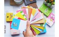 Mile животные персонализировать открытки / сообщение карты, бесплатная доставка 10 пос / много