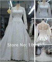 тайвань - сорт серийное производство сторона кости из толстой атласной ткани кружево свадебное платье