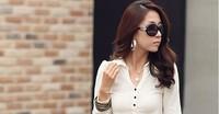 бесплатная доставка осень новый пост платье ЛАЛ поддержка рубашка с ди Recover значительно Tone пакет бедра юбка