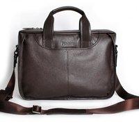 горячая! прекрасный новый из натуральной кожи черного ноутбук портфели классический стиль плечо сумка