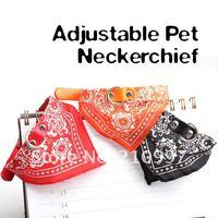 10 шт./лот оптовая продажа новое средний размер регулируемая домашних собак бандана шарф воротник шейный платок + бесплатная доставка