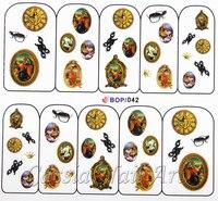 110 конструкций 15 шт. / серия маникюр наклейка вода отличительные знаки бабочка цветы череп пирожки алфавит комикс противовыбросовое оборудование серии