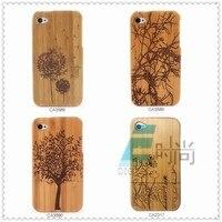 поделки бамбука деревянные чехол комбинированной крышка с рисунком отчуждения личности чехол для iPhone 4 и 4S бесплатная доставка