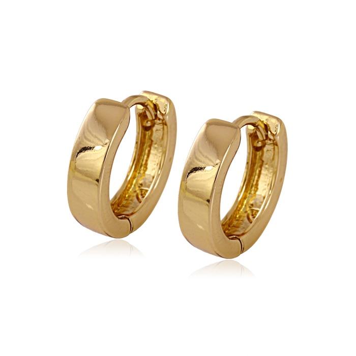 Children gold earrings gold filled hoop earings bijouterie boucle d