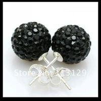 мода шамбалы серьги микро клей и CZ хрустальный шар шамбалы ювелирные изделия женская 925 посеребренные