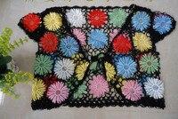 бохо лето цветочные пожимает плечами болеро куртка ручной работы из бисера крючком болеро пожимает плечами многоцветный