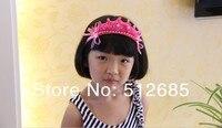 минимальный. $ 15 } 3шт / лот дети / девочка / принцесса / розовый laden baht корона жемчуг лента повязка на голову / волос аксессуары