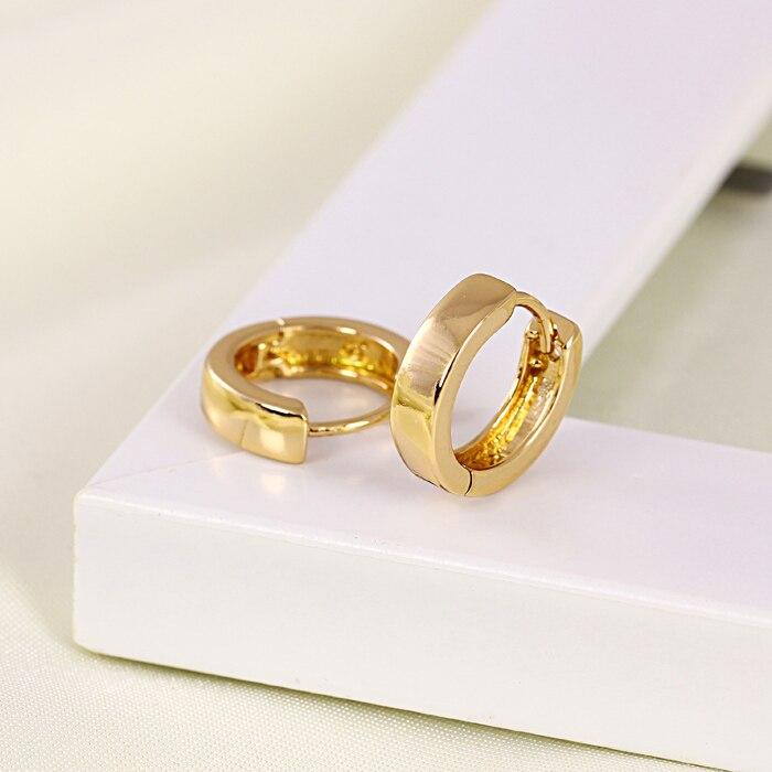 Children gold earrings gold filled hoop earings bijouterie boucle ...