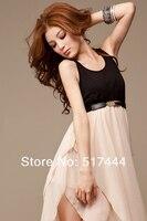 корейский о-образным шеи лето шифон сексуальное жилет платье hjfs-002