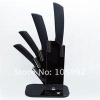 """керамический нож набор 3 """"+ 4"""" + 5 """"+ 6"""" черный новый стиль хан нож"""