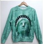 новое поступление мода женщины / мужчины мультфильм / животное / череп галактика футболка пуловеры кожа рукав девушка в 3D толстовки одежда лучших