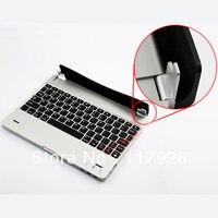 серебро перейти Pro беспроводная связь Bluetooth с клавиатура чехол клавиатура алюминиевый чехол клавиатура для iPad от Apple, мини прямая поставка + бесплатная ручка