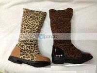новый дети осень зима леопард ботинки дети ботинки мода ботинки девушки ботинки оптовая продажа туфли дети
