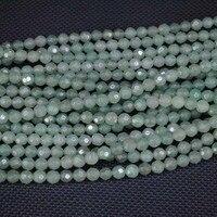 природа зеленый авантюрин камень бусины, граненные круглый мяч, мода бусины аксессуары, размер : 6 мм, бесплатная доставка