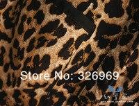 осень свободного покроя мода красивый сексуальное леопардовым принтом ткань с V-образным вырезом с длинным рукавом женские блузки женщин женский shc009