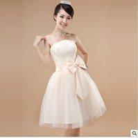 шампанское без бретелек-линии чай - вечернее платье невесты платья хз L хl ххl в наличии бесплатная доставка