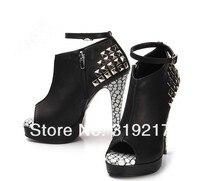 deva цене, новое женщин платформы пип-ноги туфли на блок но сапоги обувь высокое качество