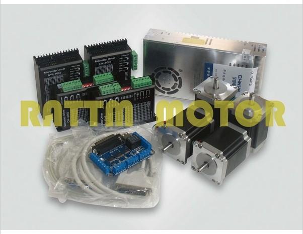 4 axis CNC controller kit 4 NEMA23 270 oz-in stepp...
