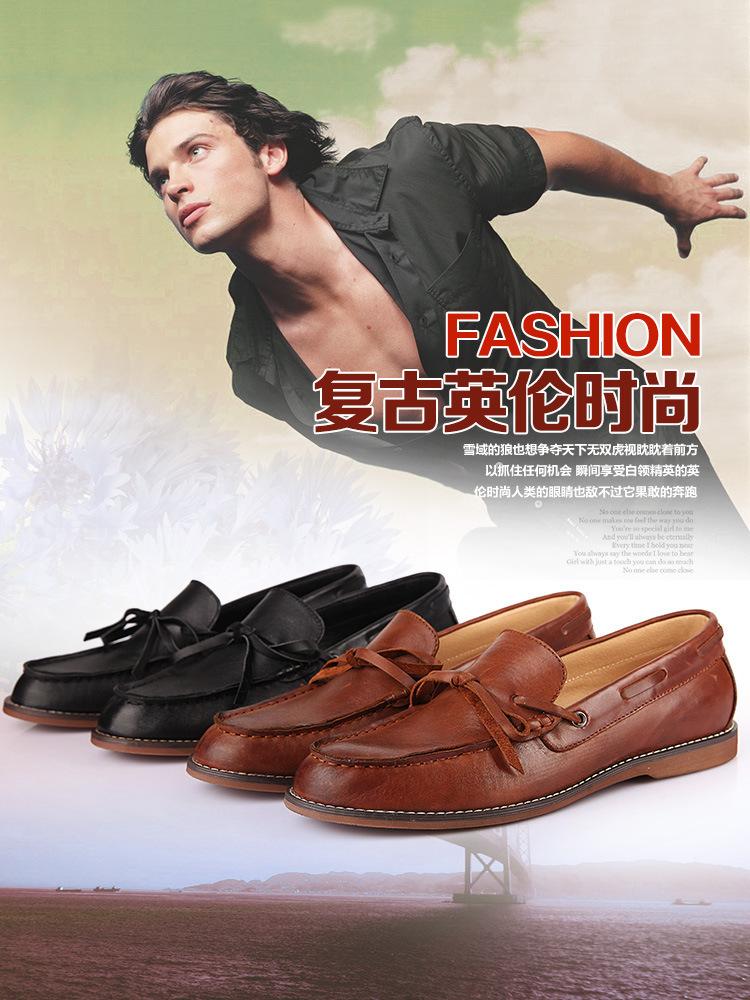 новый британский стиль оксфорды свободного покроя из натуральной кожи мужчины кроссовки мода мужская плоским бесплатная доставка