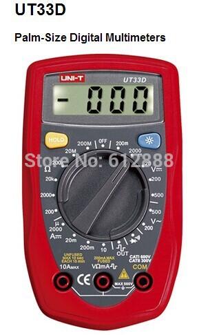 UNI-T UT33D Palm Size LCD Pocket Digital Multimete...