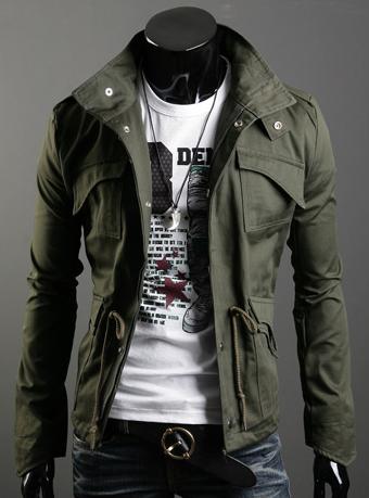 2014 Men\'s Fashion Brand Clothing  Army Design Cas...