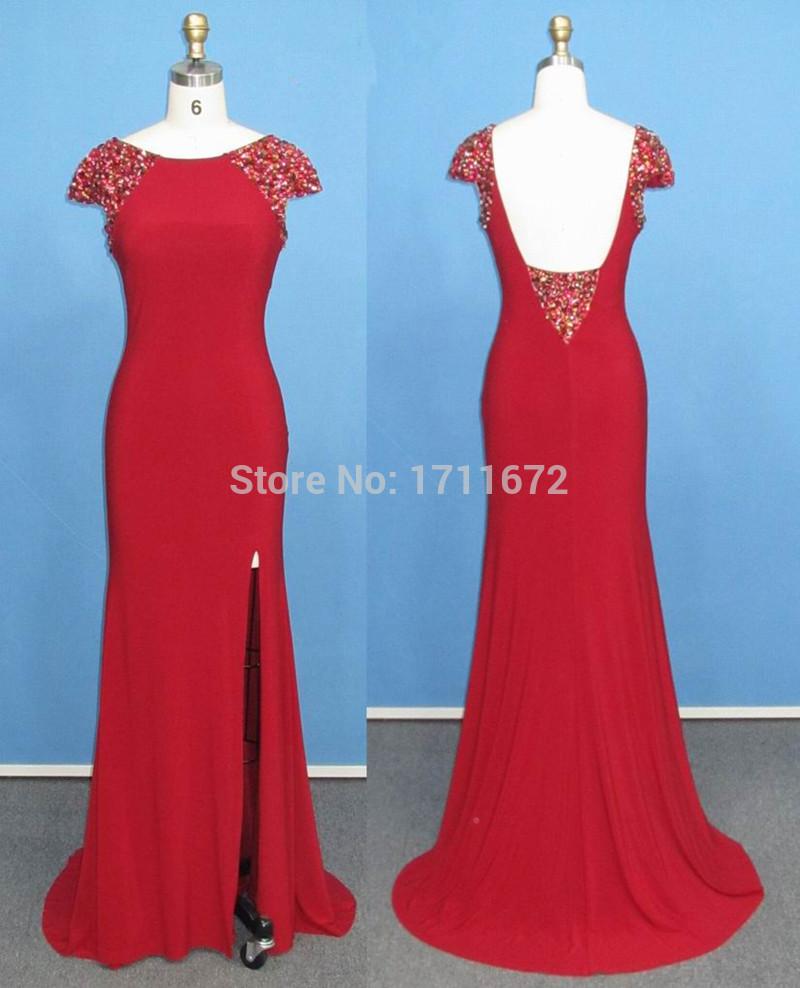 Abendkleider 2015 Elegant Women Vestidos Largos Noche Backless ...