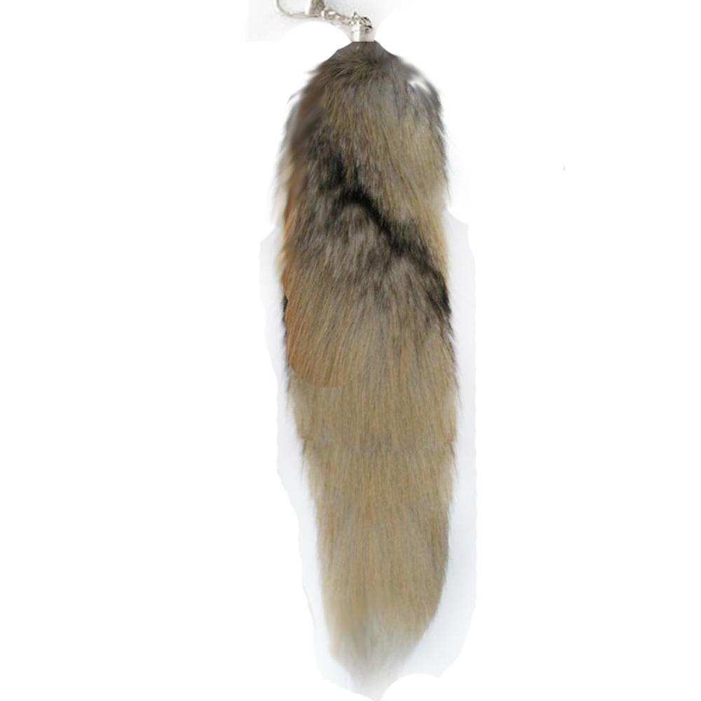Большой подлинная лисий хвост Вт / бесплатная доставка брелок 15-18 дюймов