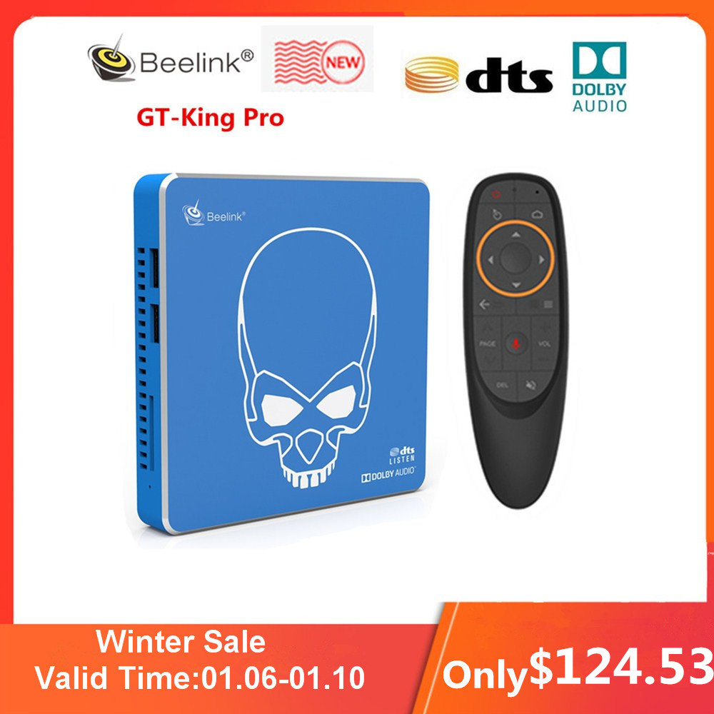 New Arrival Beelink GT-King Pro Hi-Fi Lossless Sound TV Box with Dolby Audio Dts Listen Amlogic S922X-H Android 9.0 4GB 64GB