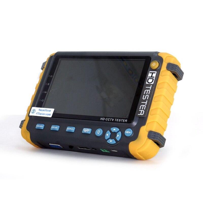 5 Inch Tft Lcd Hd 5Mp Tvi Ahd Cvi Cvbs Analog Security Camera Tester Monitor In One Cctv Tester Vga Hdmi Input Iv8W(Eu Plug)