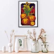 Wall Decals Waterproof DIY Pumpkin Ghost Hand  Halloween Horror Sticker Bedroom Living Room Decoration