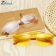Zilead Fashion Men Women One-piece Resin Clearr Presbyopia Reader Simple Ultralight Eyeglasses Plastic Frame Reading Glasses