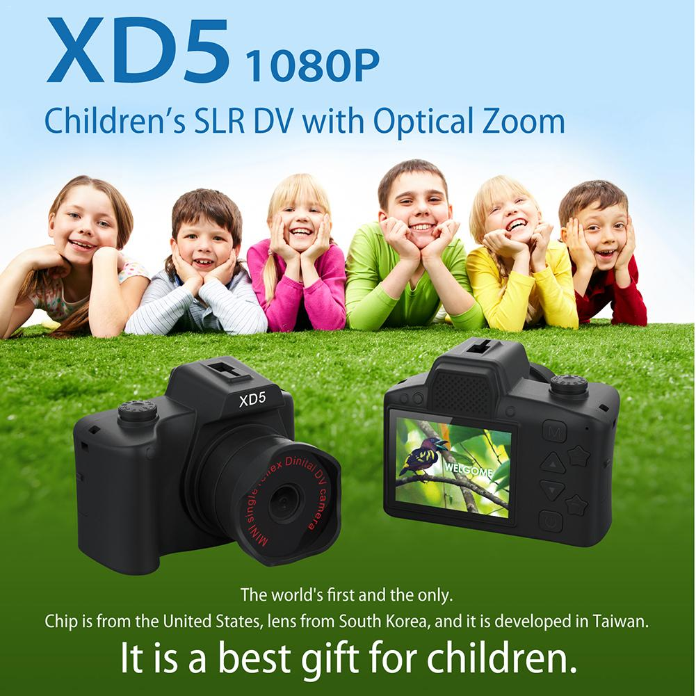 Newest High Quality Childrens Camera Toys 30X Optical Zoom SLR 1080 HD Video With Mini Tripod Car Bracket Kids Toys Gifts