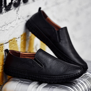 Image 2 - Genuine Leather Casual Slip On Mens Moccasins Men Shoes Loafers Mocassin Homme Footwear Man Topsiders High Quality Plus Size