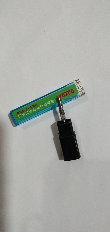 5Pcs 3.175x12mm Single Flute Milling Cutters for Aluminum CNC Tools Solid Carbid