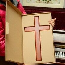 Cao cấp gỗ chắc chắn chéo Tường Chúa Giêsu Kitô chéo Giáo Hội tiếp liệu Nhà trang trí Người Công Giáo quá khổ 46 cm cao cấp