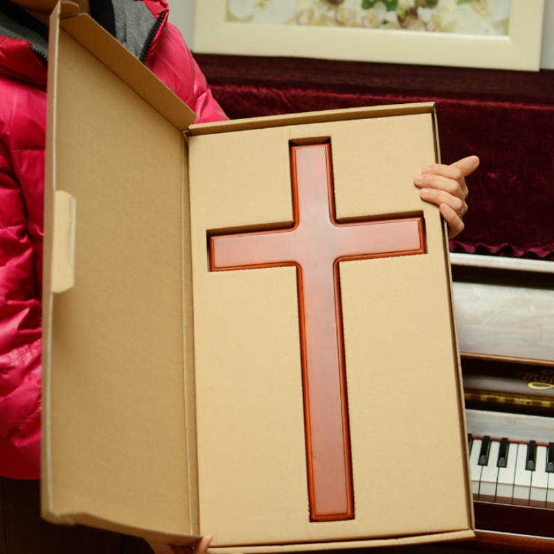 Croix en bois massif de haute qualité murale jésus Christ croix fournitures catholiques décorés à la maison surdimensionné 46 cm de haut