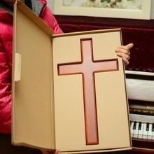 คุณภาพสูงไม้ cross ติดผนัง Jesus Christ cross Church supplies ตกแต่งคาทอลิกขนาดใหญ่ 46 ซม.