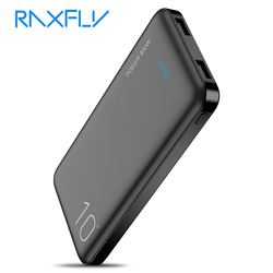 Raxfly power bank 10000 mah carregador portátil para iphone xiao mi móvel powerbank 10000 mah poverbank led bateria externa telefone