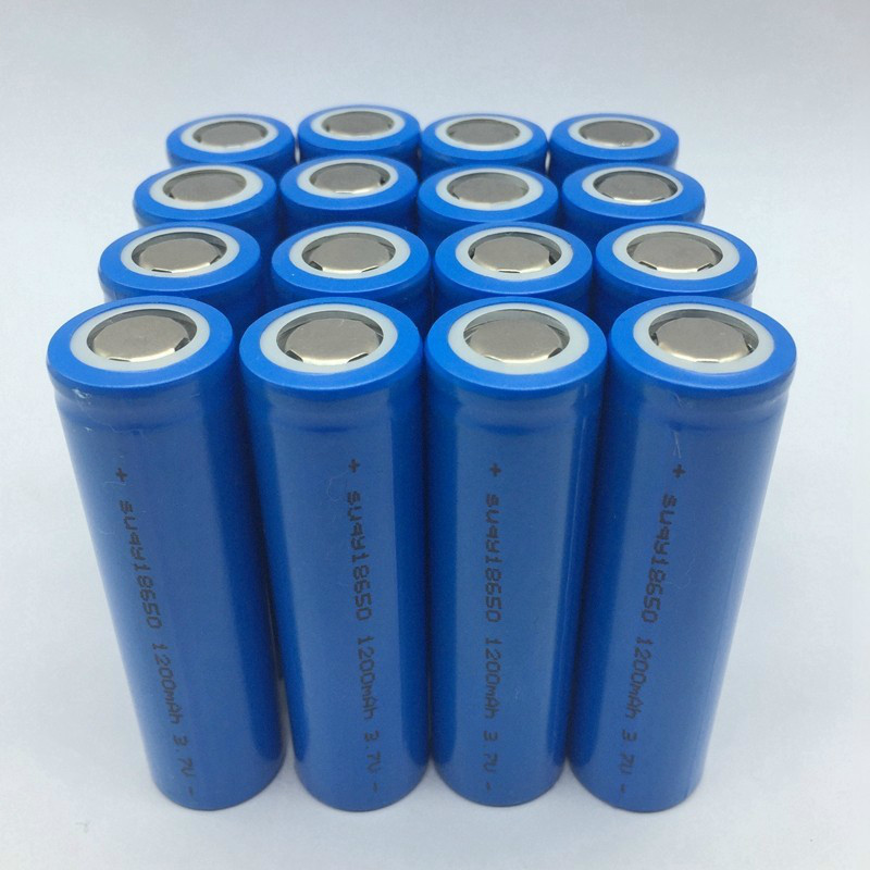 Supersedebat 18650 Batterie Rechargeable 18650 3.7v 1200mah Batteries rechargeables 18650 Batterie Rechargeable Avec Chargeur
